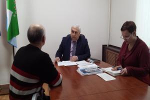 Глава Ашинского района провел прием граждан по личным вопросам